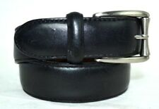 """COLE HAAN BLACK GENUINE LEATHER  BELT SIZE 34 /85 1.14"""" WIDE CRAFTED IN INDIA"""