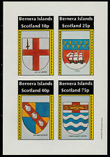 GB Locals - Bernera (1108) 1981 HERALDRY imperf sheetlet unmounted mint