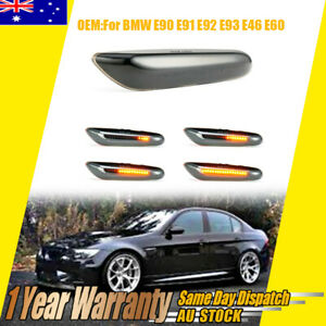 LED Turn Signal Lights Dynamic Smoked Side Indicator Fit For BMW E90 E92 E60 2pc