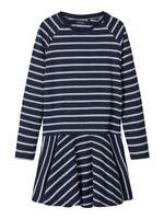 NAME IT langarm Kleid NKFValentina dunkelblau gestreift Größe 128 bis 164