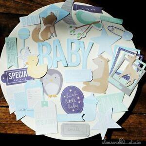 Baby Boy Words Cardstock For Scrapbooking Happy Planner Journaling Project