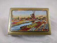VINTAGE 1950's PACK OF PLAYING CARDS - DUTCH SCENE - TULIP FIELDS & WINDMILL