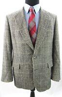 JoS A Bank Mens 44 R Camel hair Glen Plaid Windowpane 2 Button Sport Coat Blazer