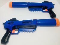 Set Of 2 NERF Fortnite SP-R Blasters - Clean And Work Great!
