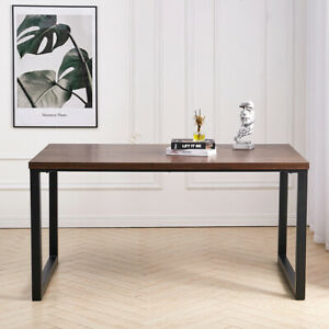 Industrial Wood Dining Table Brown 4 6 Seater Kitchen Living Furniture Workbench