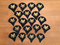 US ARMY Lot Of 19 Specialist Enlisted Rank PATCHES