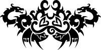 2 Dragons Facing  stencil, 350 micron Mylar not thin stuff  #TaT0048