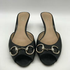 Gucci Black Open Toe Heels 8.5