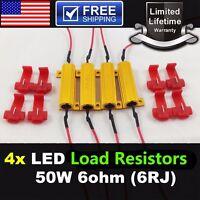 4PCS 50W 6 ohm Load Resistor Fix LED Bulb Fast Hyper Flash Turn Signal Blink