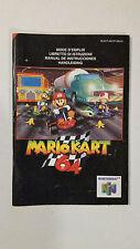 Notice Mario Kart 64  Nintendo 64 / FR / envoi gratuit