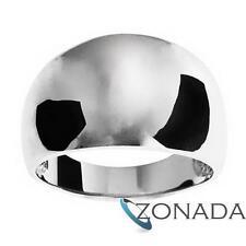Half Round 9ct 9k Solid White Gold Ring Size P 7.75 W42256