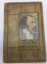 1907 TENNYSON Birthday Book- Antique VICTORIAN Fine Binding Book