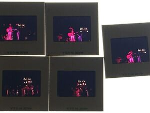 5 - 35mm slides Ray Davies and the The Kinks - 1973