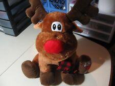 "17"" plush sitting Moose w/scarf & Jesus (heart) Me doll, good condition"