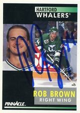 ROB BROWN WHALERS AUTOGRAPH AUTO 91-92 PINNACLE #141 *31418