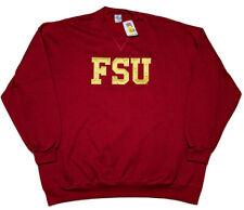 Soffe Florida State Seminoles FSU Sweatshirt Embroidered Red 4XL Made USA ~ New