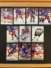 1996/97 Pinnacle Premium Stock New York Rangers Team Set 10 Cards