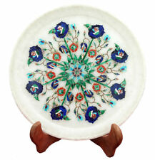 Marble Plate Floral Inlay Pietra Dura Handcrafted Home Decor And Gifts
