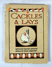 Cackles & Lays, Childrens Book, Charming Illustrations by Helen Urquhart - 1918