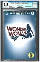 WONDER WOMAN: Rebirth Special Edition #1 CGC 9.8 (2016) DC white pages