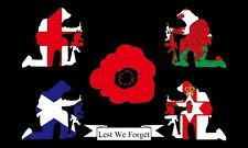 Britain Remembers 5'x3' Flag Remembrance Day Lest We Forget WW1 WW2 Armastice