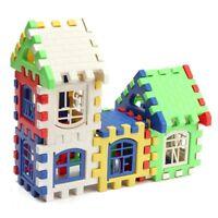 24PCS Children Puzzle plastic letter Building blocks house toy Q4O4
