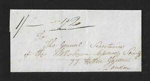 DOMINICA via ST KITTS to GB cover 1840 RARITY