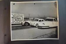 Vintage Photo RARE 1948 Davis Divan 3 Wheel Car MG & Renault  Mobil Gas 919087