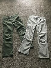 2 TWO prAna Womens Outdoor Camping Stretch Pants sz 12