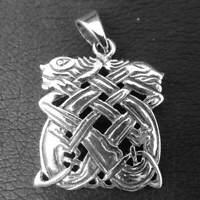 Keltischer Hunde Anhänger 925er Silber Symbol Schmuck - NEU
