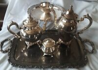 5 pc VINTAGE Silverplate Tea/Coffee Set - WM.A.ROGERS BY ONEIDA SILVERSMITHS