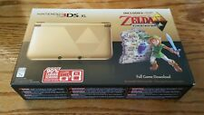 Nintendo 3DS XL Gold Legend of Zelda Link Between Worlds Limited Ed. system NEW