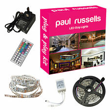 Led flexible strip light 5M 5050 rgb couleur vive power supply remote noël