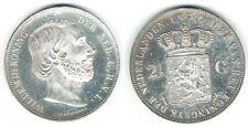SZAIVERT  NIEDERLANDE WILHELM III. 2 1/2 GULDEN 1870