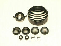 HEADLIGHT GRILL COMPLETE SET BLACK POWDER COATED ROYAL ENFIELD CLASSIC NEW BRAND