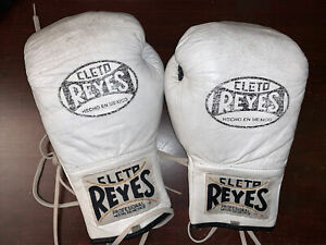 Cleto Reyes 10 Oz Safetec Pro Boxing Gloves White - Used