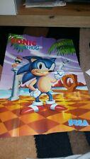 Sega Sonic Poster Original Mega Drive