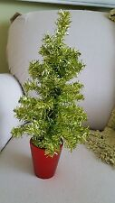 Green metallic st. Patrick's Day tinsel tree table top tree 18 inch