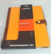 Griffin Back Bay Folio for iPad 3rd & 4th Generation and iPad 2 Orange and Brown