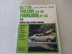 Gregory's Falcon XA-XB Fairlane ZF-ZG V8 Service & Repair Manual-156