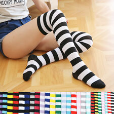 Fashion Women Striped Socks Over the Knee Thigh High Casual Long Warm Stocking