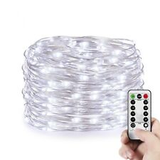 10M 100 LEDs Christmas Wedding Battery String Lights Indoor&Outdoor Decor Remote