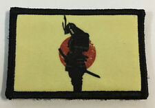 Samurai Armor Rising Sun Morale Patch Military Tactical Army Flag USA Hook Badge