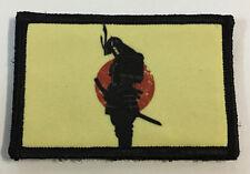 Samurai Armor Rising Sun Morale Patch Military Tactical Army Flag USA Hook Badge