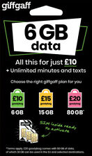 GIFFGAFF SIM CARD PAY AS YOU GO FOR PHONES STANDARD MICRO NANO PAYG ONLY 20P