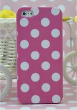 Iphone 5 Polka Dots TPU Gel Silicone Jelly Rubber Phone Case Cover Protector