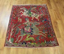 Traditional Vintage Wool Handmade Classic Oriental Area Rug Carpet 148X 100 cm