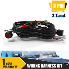 TWO Lead Offroad Wiring Harness Kit FOG LIGHTS ON/OFF Switch 16A Relay Universal