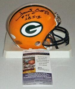 PACKERS Forrest Gregg signed mini helmet w/ SB I & II JSA COA AUTO Autographed