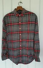 Britches Great Outdoors Long Sleeve Button Front Men's Shirt Plaid  Large